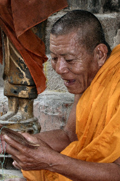 Monk Reading Texts