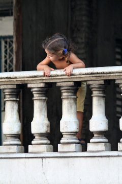 Girl at Balustrade